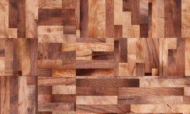 Drewniany tło, kwadrata abstrakta wzór Zdjęcie Stock