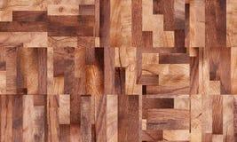Drewniany tło, kwadrata abstrakta wzór Fotografia Royalty Free