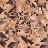 Drewniany tło, kwadrata abstrakta wzór Zdjęcia Stock