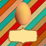 Drewniany tło z Wielkanocnymi jajkami. + EPS8 Fotografia Royalty Free