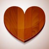 Drewniany tła serce Zdjęcie Stock