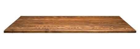 Drewniany tabletop odizolowywający obraz stock