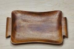 Drewniany tableware tło Fotografia Royalty Free