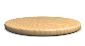 Drewniany talerz dla mięsa i warzywa Obraz Royalty Free