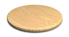 Drewniany talerz dla mięsa i warzywa Zdjęcia Stock