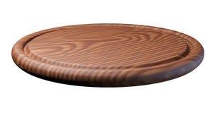 Drewniany talerz dla mięsa i warzywa na białym tle Fotografia Royalty Free