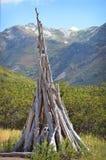 Drewniany Teepee Zdjęcia Stock