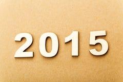 Drewniany tekst dla roku 2015 Fotografia Royalty Free