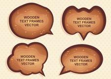 Drewniany tekst - mowy rama ilustracji