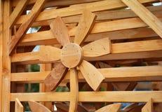 Drewniany tekstura kwiat Obrazy Royalty Free