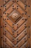 Drewniany tekstury tło, część stary drzwi Zdjęcia Stock