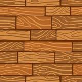 Drewniany tekstury tło wektor bezszwowy wzoru Obraz Stock