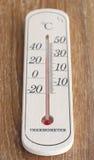 Drewniany termometr Fotografia Royalty Free