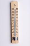 Drewniany termometr obrazy stock