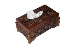 Drewniany tkanki pudełko Obraz Stock