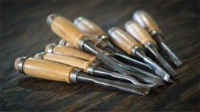 Drewniany toolkit Zdjęcia Stock