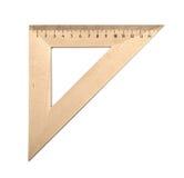 Drewniany trójbok Zdjęcie Stock