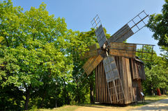 drewniany tradycyjny wiatraczek Zdjęcia Royalty Free