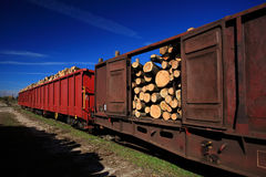 Drewniany transport Zdjęcie Royalty Free