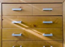 Drewniany tv stół obraz stock