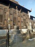 Drewniany Ubosodh w Tajlandia projekta Północnej sztuce Fotografia Royalty Free