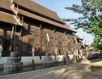 Drewniany Ubosodh w Tajlandia projekta Północnej sztuce Obraz Royalty Free