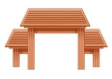 Drewniany wej?ciowy drzwi Brown i projekt ilustracja wektor