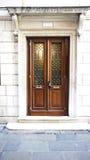 Brown drewniany drzwi Obrazy Stock