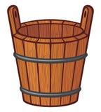 Drewniany wiadro royalty ilustracja