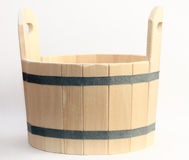 Drewniany wiadro dla skąpania fotografia stock