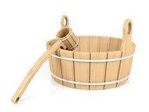 Drewniany wiadro i chochla Obraz Stock