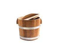 Drewniany wiadro odizolowywa Fotografia Royalty Free