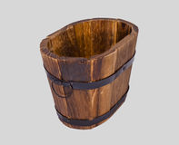 Drewniany wiadro z żelaznym dopasowaniem fotografia royalty free
