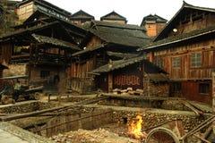 Drewniany wiejski houseï ¼ ŒChinese villageï ¼ ŒPhotography fotografia stock