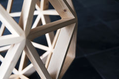 Drewniany wielobok struktury tło Zdjęcia Stock