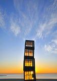 Drewniany wierza na plaży Barcelona Fotografia Stock