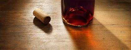 Drewniany wina tło Zdjęcie Stock