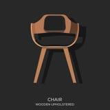Drewniany Wyścielany krzesło Fotografia Royalty Free