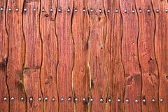 Drewniany wyginający się ogrodzenie brown kolor Zdjęcia Royalty Free