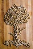 drewniany wyrka drzewo obraz stock