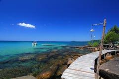 drewniany wyspy bridżowy kood Zdjęcia Stock