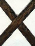 drewniany x Obraz Royalty Free