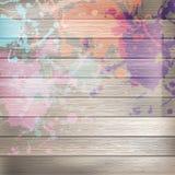 Drewniany z farbą bryzga szablon plus EPS10 Obrazy Royalty Free