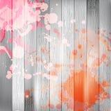 Drewniany z farbą bryzga szablon plus EPS10 Fotografia Royalty Free