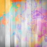 Drewniany z farbą bryzga szablon plus EPS10 Fotografia Stock