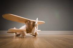 Drewniany zabawka samolot Zdjęcia Stock