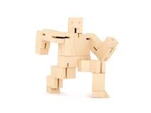 Drewniany zabawkarski robot Zdjęcie Royalty Free