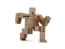 Drewniany zabawkarski robot Zdjęcie Stock