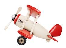 Drewniany zabawkarski samolotowy obruszenie widok 3D odpłacają się ilustrację odizolowywają Obrazy Stock