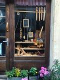 Drewniany Zabawkarskiego sklepu sklepu okno Fotografia Royalty Free